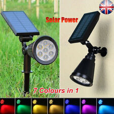 Waterproof 7 LED Solar Panel Power Flood Lights Garden Yard Lawn Wall Spotlight
