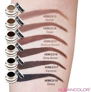 Kleancolor Brow Pomade Smudge Proof & Waterproof - Brow Gel in 6 Shades! NEW