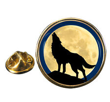 Howling Wolf Lapel Pin Badge Gift