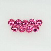 0.90 ct BEST GRADE -  BEST NEON   PINK - NATURAL SPINEL - Round 3mm 9pcs
