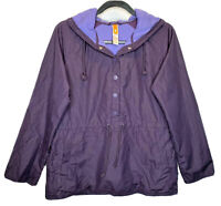 LUCY Tech Women Pullover Hooded Windbreaker Jacket Medium Purple Hiking Running