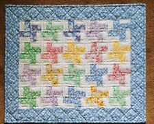 Handmade   Doll quilt for 18 inch dolls   Charming 1930's prints