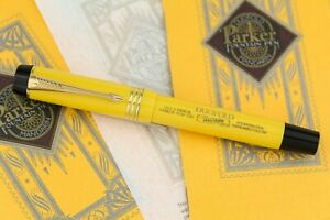 Parker Duofold Mandarin Yellow Limited Edition Fountain Pen #5984/10000