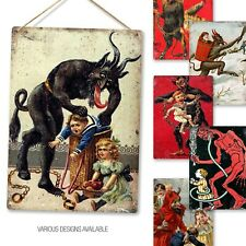 Metal Wall Sign - Various Krampus Dark Christmas Seasonal Gift Xmas Alternative