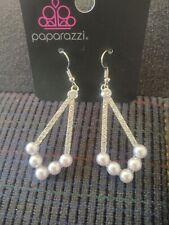 Paparazzi Light Gray Pearl Dangle Women's Earrings NWT