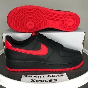 Nike Air Force 1 '07 Bred Black University Red Sneakers Men's 13 DC2911-001