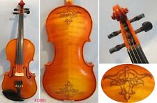 hand made Song Master Violin 4/4 ,carved flower in back, Great sound #12901
