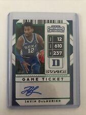 Javin DeLaurier Duke Basketball Panini Green Foil Autograph Rookie card Auto NBA