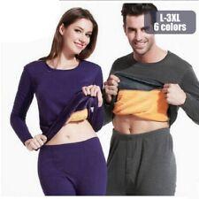 Women Men Velvet Thick Thermal Underwear Winter Warm Pajamas Set Tops Johns Pant