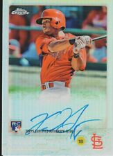 2015 Topps Chrome Autograph card Xavier Scruggs ROOKIE (Cardinals) Card# AR-XS