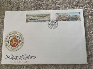 ISLE OF MAN 1992 Manx Harbors Scott #519-520 FDC