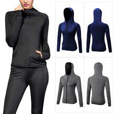 Ladies Women Fitness Sports Jacket Outwear Workout Coats Active Wear Tops Zipper