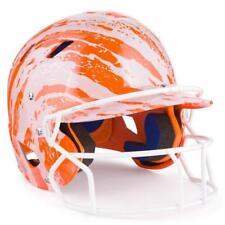 Schutt Youth AlR 5.6: Air 4.2 Junior Batting Helmet w Faceguard: Orange/White