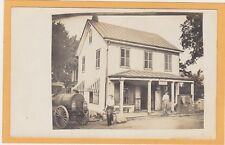 Real Photo Postcard RPPC - Milkman Milk Truck House and Scale
