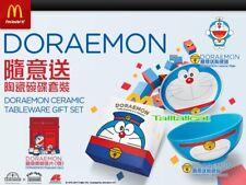 2017 HK McDonald's x Doraemon Ceramic Tableware Gift Set (Plate,Bowl & Postcard)