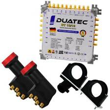 Duatec Multischalter 9/12 Switch FULL HD 3D 4K UHD 12 Teilnehmer 2xLNB Multifeed