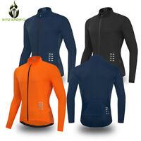Men's Cycling Jersey Long Sleeve Bike Tops Bicycle Shirts Maillots Hi Vis Jacket