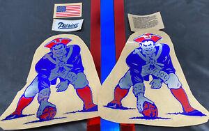 New England Patriots Football Helmet Decals Full Size W/ Extras TB 20 Mil Chrome