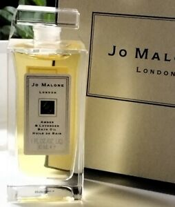 JO MALONE AMBER & LAVENDER BATH OIL- 30ML - SEALED - BOXED WITH GIFT BAG