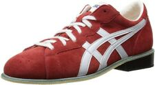 ASICS Weight Lifting Shoes 727 Red White Leather Made In Japan Fast Shipping
