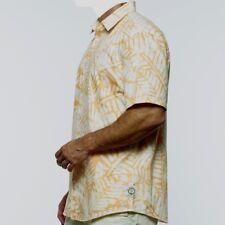 cd349faf Margaritaville Men's Short Sleeve Batik Leaf Resort Tropical Shirt Size L