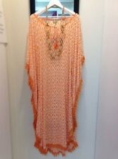 Talisman Long Kaftan with Cotton Trim  Women's Summer Dresses Size L/XL