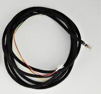 Vintage Antique Cloth Covered Line Cord - Black - Spade - Modular - SKU - 30010
