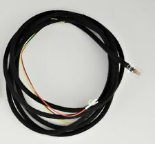 Cloth Covered Line Cord - Black - Spade - Modular - SKU - 30010