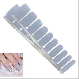 Jaysea Nails Real Polish Strips - Color Light Gray Street Nail Art - B4G1 Free!