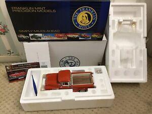 FRANKLIN MINT DIE-CAST 1:24 1956 56 CHEVROLET CHEVY PICK UP TRUCK MINT N BOX