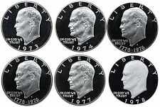 1973-1978 S Complete Set Eisenhower Ike Dollars Gem Proof Run 6 Coins US Mint