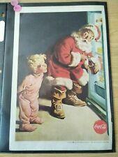 1959 Vintage Original Coca-Cola Advertisement - Santa