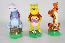 Set 3 Disney Winnie The Pooh Garden Statue Henri Studio Tigger, Eeyore 10 Inch