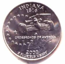 Indiana Indianapolis 500 Indy Car State Quarter 2002 D Coin - Denver Mint
