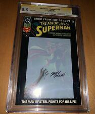 2 Comics: CGC Superman 500 Signed Jerry Ordway 1st App White Rabbit Angora Lapin