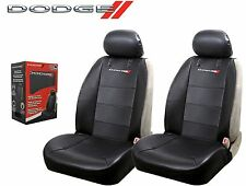 Dodge Elite Seat Covers Black Synthetic Leather Side Air bag Ready Fast Shipping