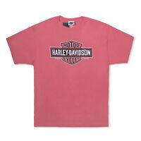 Tel Aviv Israel Pink Harley-Davidson T-Shirt Biker Short Sleeve Man Woman
