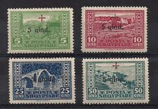 Albania Albanien Albanie 1924 Semi Postal Red Cross  #B1-4 MLH Signed