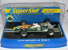 SUPERSLOT H3206 TEAM LOTUS 49 F1 #4 JIM CLARK 1968 KYALAMI  SCALEXTRIC UK  MB
