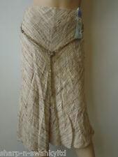 ☆ bnwt nouvelles Marks & Spencer Femme Beige / Marron perles belted jupe uk 8 eu 36 ☆