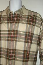Tommy Hilfiger  Plaid Heavy button down shirt size XL mens Tan