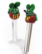 RAT FINK DOOR LOCK KNOBS HOT ROD RAT ROD GREEN RAF322GR
