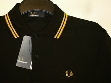 Fred Perry regular fit twin tipped polo shirt t-shirt M1200 S small F44