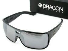 b7fc334bd1b7 NEW Genuine DRAGON HEX Sunglasses Shiny Black Silver Ionized Lens Mens DR  009