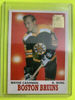 2001-02 Topps Archive Rookie Reprints #31 Wayne Cashman Boston Bruins