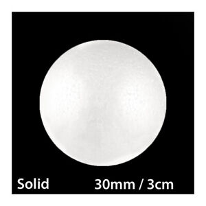 30mm / 3cm POLYSTYRENE SOLID ROUND STYROFOAM BALLS POLY CANDY SWEET TREE PARTY
