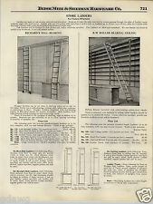 1924 PAPER AD Richard's Roller Ball Bearing Store Library Bicycle Wheel Ladders