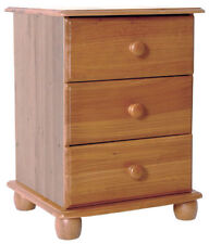 Pine Antique Style Bedside Tables & Cabinets with 3 Drawers