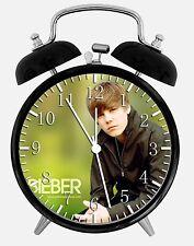 "Justin Bieber Alarm Desk Clock 3.75"" Room Office Decor X11 Will Be a Nice Gift"