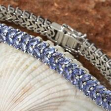 14.81 CT Marquise Cut Tanzanite Double Row Tennis Bracelet 925 Sterling Silver